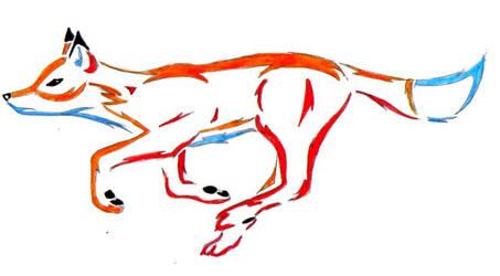 Stylized Fox by midnight-risu