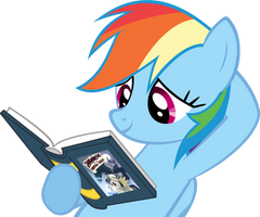 Rainbow Dash Hearts Books by Knight725