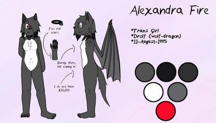 Alexandra Fire Reference Sheet by AdultAlexandraFire