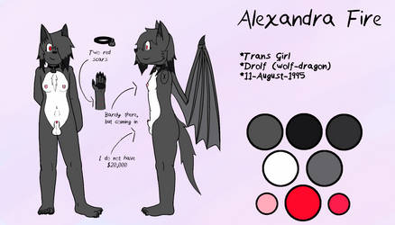 Alexandra Fire Adult Reference Sheet by AdultAlexandraFire