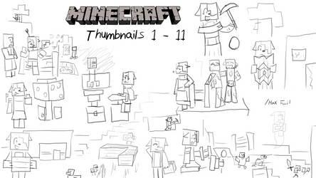 Minecraft Thumbnail Doodles Pt 1 by AdultAlexandraFire