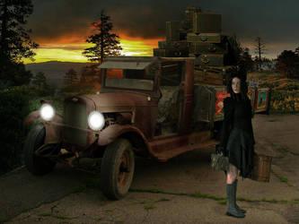 OLD CAR SEPT 524 dusk by Taracena2017