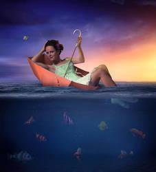 Umbrella In The Water by Taracena2017