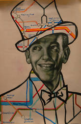 Fred Astaire and the London Underground by la-lapinette