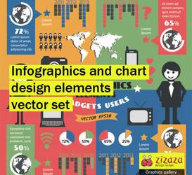 Infographics and chart design elements vector set by DarkStaLkeRR