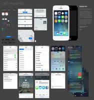 iOS 7 iPhone UI kit by DarkStaLkeRR