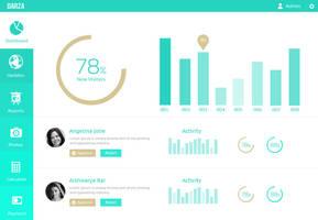 Dashboard UI Design PSD by DarkStaLkeRR