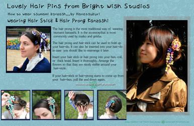 How To Wear Prong Kanzashi by hanatsukuri