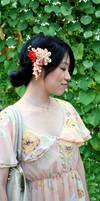 Vintage Fall. Kimono fabric tsumami kanzashi by hanatsukuri
