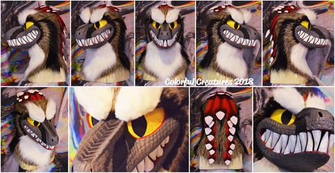 art liberty raptor head by freckledoe