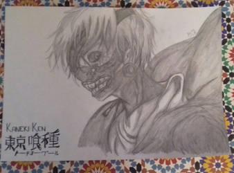 Tokyo Ghoul - Ken Kaneki by RyuuDraws