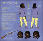 Keyona Reference Sheet by AlfaFilly