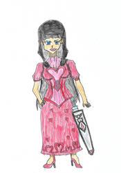 GNG OC Kokoro in Dress by spiralmaestro
