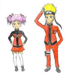 Naruto and Madoka's Future RP Clothes by spiralmaestro