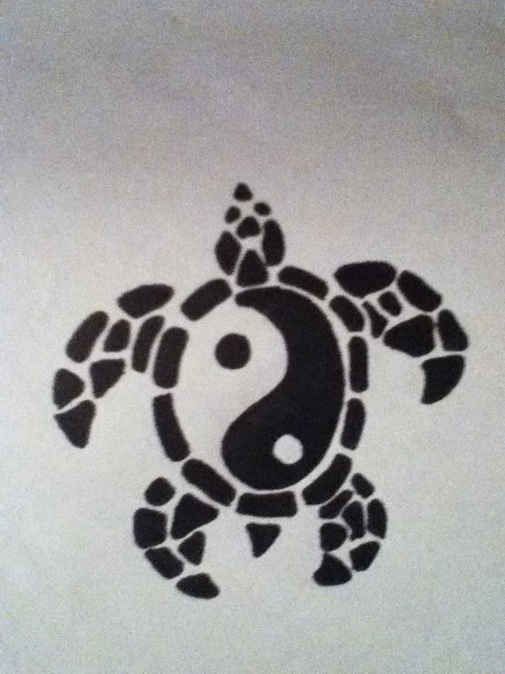 Tribal Turtle Yin Yang By Shermanbn94 On Deviantart
