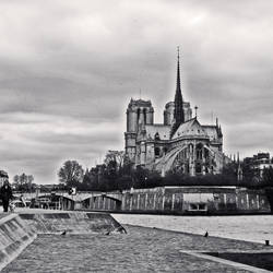 Notre Dame_bw - Paris by Alabastra