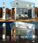 3D - Bus Stop - Design by GetFamousDesigns