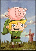 Link Throws Piggy by tafkase7en
