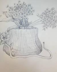 Flowers in a Log by Kyukono