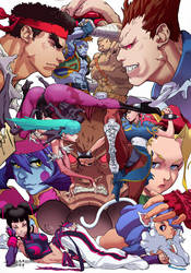 Street Fighter vs Darkstalkers by CREONfr