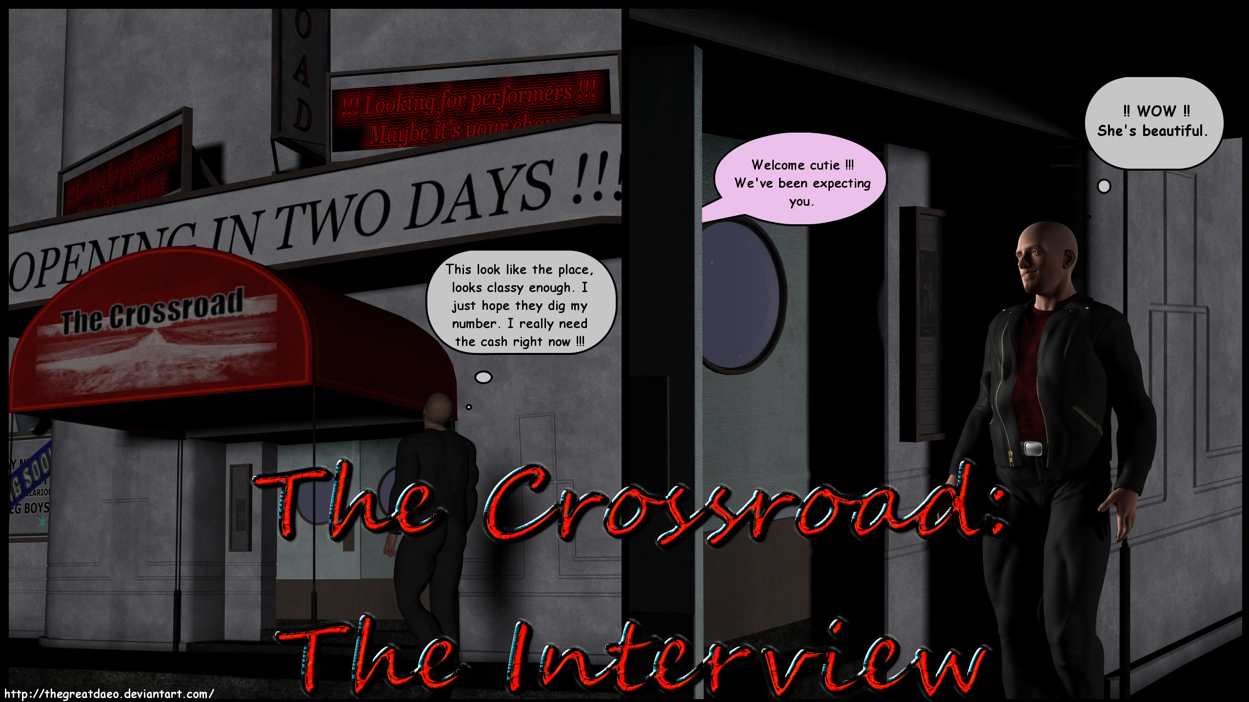 Crossroad - The Interview Page 01 by TheGreatDaeo