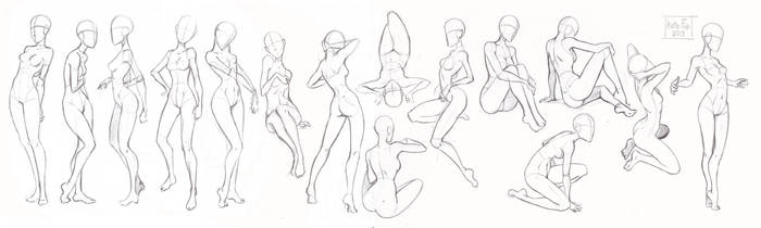 Pose study by Kate-FoX