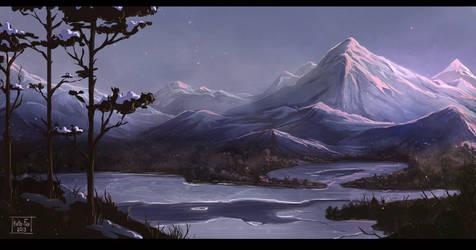 Sleepy mountain by Kate-FoX
