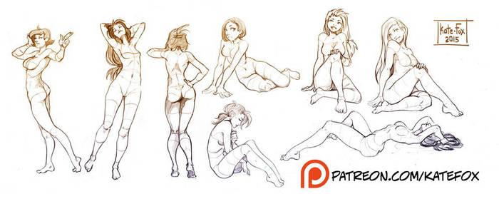 Pose study 20 by Kate-FoX