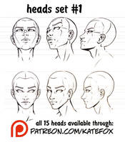 Heads Set 1 by Kate-FoX
