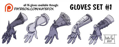 Gloves set 1 by Kate-FoX