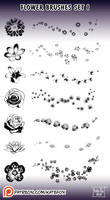 Photoshop Flower Brushes 1 by Kate-FoX