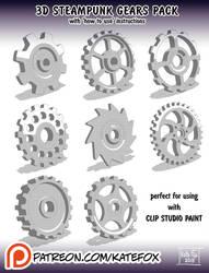 3D gears pack by Kate-FoX