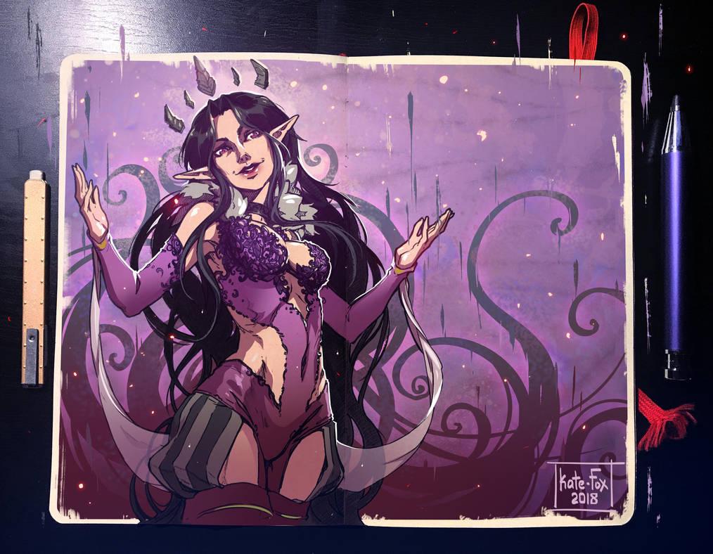 Moleskine: Elven goddess by Kate-FoX