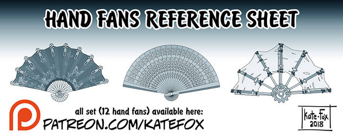 Hand Fans 1 by Kate-FoX
