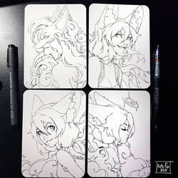 Fox line arts by Kate-FoX