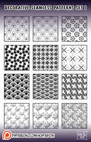 decorative patterns #1 for Photoshop by Kate-FoX
