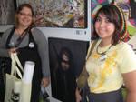 A few deviants next to the dA fine art print wall by aunnyd