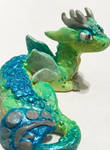 For Sale: Green Polymer Clay Fairy Dragon by JcArtSpace