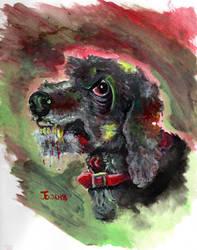COMM: Zombie Dog by JcArtSpace