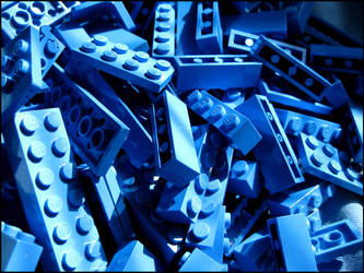 Blue Lego Assortment by devianb