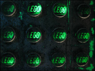 Dirty Lego Studs Illuminated by devianb