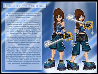 Jenny - Heroine of Lightness by theheroofdarkness