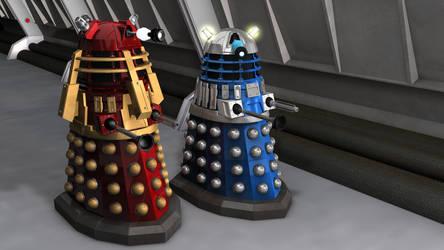 Supreme and Eternity circle Dalek by DarkravenProductions