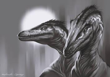 Raptors by AntarcticSpring