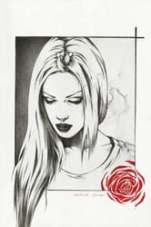 Ink rose by AntarcticSpring