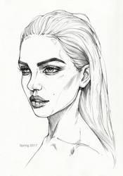 Pencil sketch 3 by AntarcticSpring