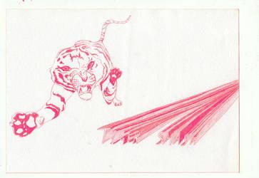TigerSMASH by drawingsbycharlotte