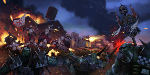 Battle of Glazer's River imperial guard vs ork by warhammer40kcampaign