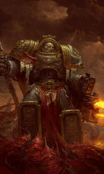 Nimrod Grudge Chapter master of Harbingers by warhammer40kcampaign