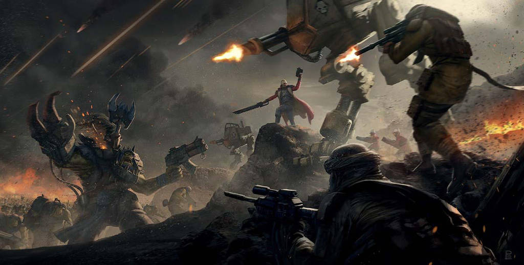Imperial Guard vs Ork on Praetoria by warhammer40kcampaign